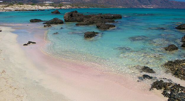 Elafonisi beach in Crete Keramoti rent a car in Kissamos
