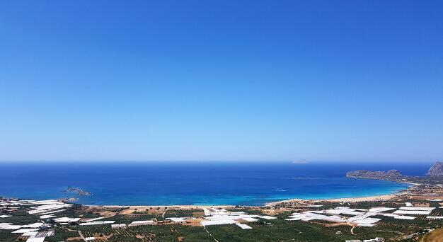 Falasarna beach in Crete Keramoti rent a car in Kissamos