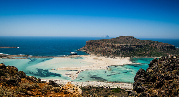 Gramvousa and Balos beach in Crete Keramoti rent a car in Kissamos