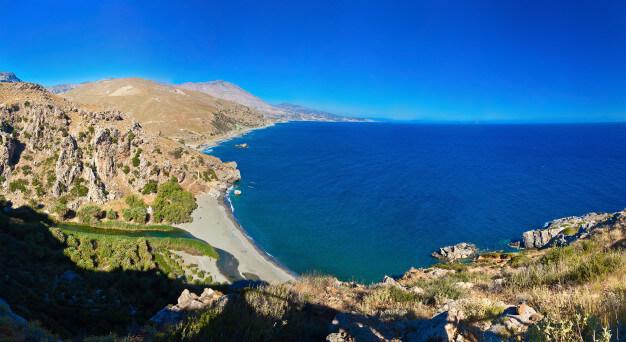 Peveli beach in Crete Keramoti rent a car in Kissamos