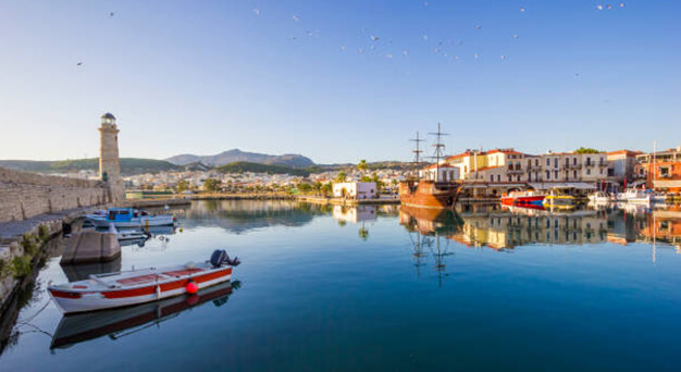 Rethymno old town in Crete Keramoti rent a car in Kissamos